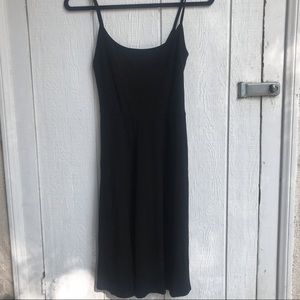 Reformation Black Ribbed Tank Dress Small